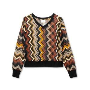 Chevron Missoni for target Zig Zag blouse NWOT
